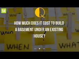 How Much Would It Cost To Build A House How Much Does It Cost To Build A Basement Under An Existing House