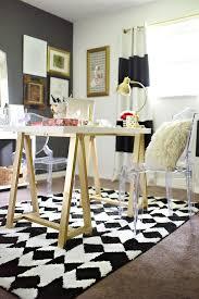 diy gold sawhorse desk paintjob desks furniture redo and