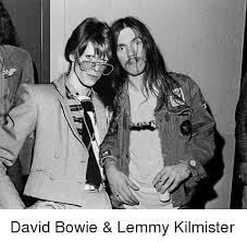 Lemmy Meme - david bowie lemmy kilmister david bowie meme on me me