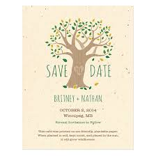 rustic save the date cards rustic tree save the date card plantable seed save the date