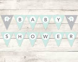 baby shower banners baby shower banner printable diy bunting banner elephant