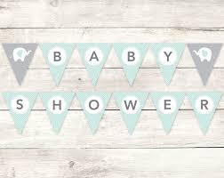 baby shower banner baby shower banner printable diy bunting banner elephant