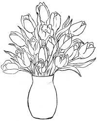 Clipart Vase Of Flowers Flower Vase Drawing Rose Free Drawing Of Flowers In A Vase Clipart