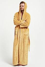 peignoir de chambre dressvip homme robe de chambre peignoir de bain en polaire doux à