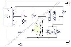 in circuit transistor tester electronic circuits