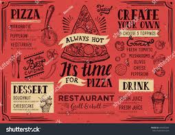 pizza food menu restaurant cafe design stock vector 594333299