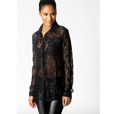 black sheer blouse 45 forever 21 tops black sheer lace button up blouse with