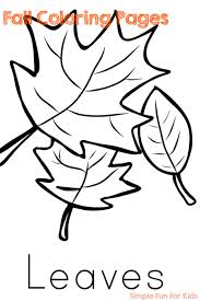 fall coloring pages simple fun kids