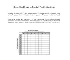 super bowl squares template free u0026 premium templates