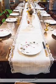 Burlap Lace Table Runner Vintage Party Rentals Rent Table Runners Wedding Vintage