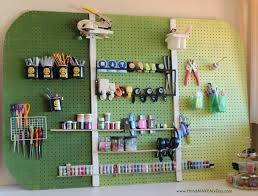 Pegboard Ideas by Furniture Marvellous Craft Room Design Ideas With Rectangular