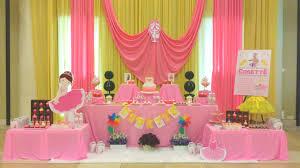 interior design amazing birthday princess theme decoration
