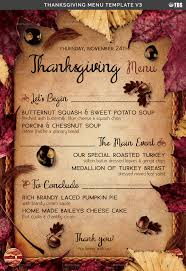 thanksgiving menu template v3 by lou606 graphicriver