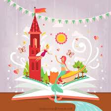 fairy tale open book vector free download