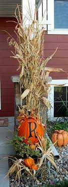 decorating with corn stalks for fall Google Search