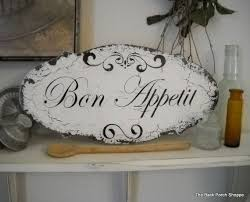 bon appetit french kitchen signs shabby vintage style 14 x 7