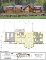log home floor plans with garage ranch house pioneer log homes midwest