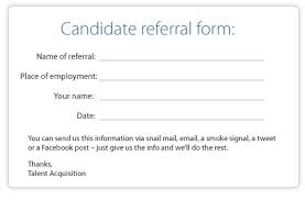 the best employee referral form ever talent management blog