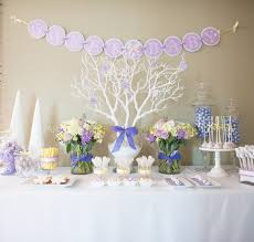 winter baby shower winter themed baby shower table
