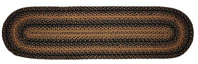 48 inch table runner ebony black and tan braided 48 inch table runner the weed patch