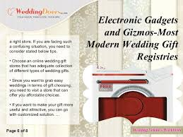 wedding gift stores electronic gadgets and gizmos most modern wedding gift registries