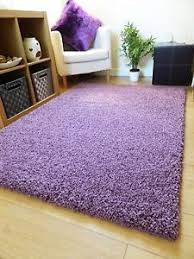 Mauve Runner Rug New Thick Plain Mauve Shaggy Rug Modern Colour Small Large Runner