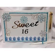 sweet 16 guest book disney frozen sweet 16 guest book