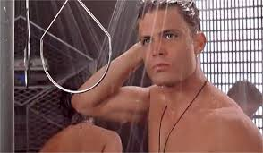 starship troopers shower scene looking back 20 years later ew com