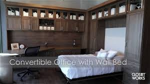 beautiful interior furniture wall bed closed murphybed office