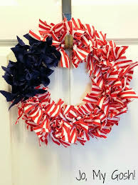 patriotic ribbon wreath diy