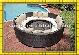 Round Sofa Set Designs Modern Wicker Rattan Furniture Outdoor Round Sofa Set Garden Patio