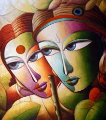 buy painting krishna 16 artwork no 4702 by indian artist dhananjay