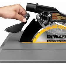 dewalt table saw guard dewalt dwe7490x 10 job site table saw with scissor stand the tool nut