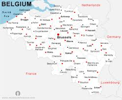 belgium city map map of belgium with cities major tourist attractions maps