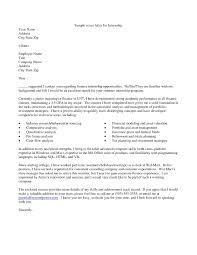 cover letter sample for internship stibera resumes