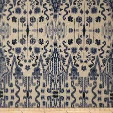 home accents caftan ikat peacock blue discount designer fabric