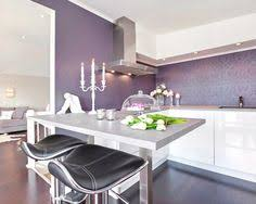Modern Color Of The House Contemporary Modern Shiny Grey Kitchen With Purple Splashback And