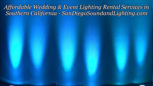 blue uplighting demo aqua wall lights event decoration