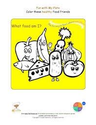 printable food groups coloring sheet name the foods