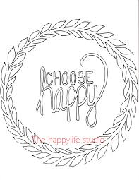 Choose Happy Coloring Page Simple Adult Coloring Page Lesson Happy Coloring Pages