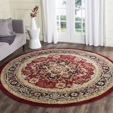 Round Traditional Rugs Safavieh Lyndhurst Traditional Oriental Red Ivory Rug 8 Ft