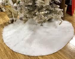 white tree skirt white tree skirt etsy
