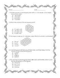 5th grade volume practice worksheet by lisa u0027s learning shop tpt