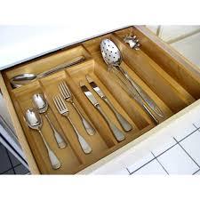 organizer wooden silverware drawer organizer silver flatware
