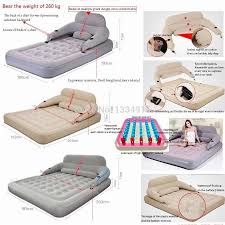 Sofa Bed Inflatable by Inflatable Bed Folded Disassembly Combination Air Cushion Bed