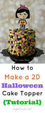 how to make halloween cake decorations how to make 2d halloween cake topper tutorial angel foods