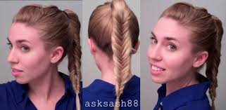 fishtail braid ponytail easy quick everyday hairstyles for long