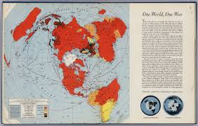 Azimuthal Map One World One War David Rumsey Historical Map Collection
