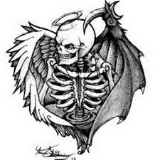 tattoo pictures of angel wings 27 angel and demon tattoos