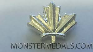 leaf ribbon maple leaf ribbon bar emblem for canadian volunteer service medal